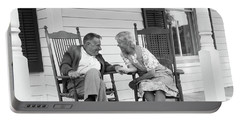 1970s Elderly Couple In Rocking Chairs Portable Battery Charger
