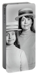 1970s Mother And Daughter Portrait Look Portable Battery Charger