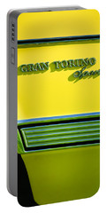 1972 Ford Gran Torino Sport Emblem Portable Battery Charger