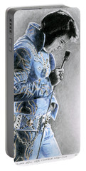 1972 Light Blue Wheat Suit Portable Battery Charger