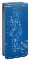 1973 Space Suit Patent Inventors Artwork - Blueprint Portable Battery Charger