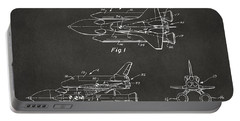 1975 Space Shuttle Patent - Gray Portable Battery Charger by Nikki Marie Smith