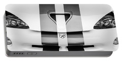 1998 Dodge Viper Gts-r Grille Emblem -0329bw Portable Battery Charger