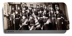 19th C. Female Cadets Armed With Brooms Portable Battery Charger by Historic Image