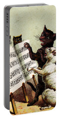 19th C. Quartet Of Singing Cats Portable Battery Charger