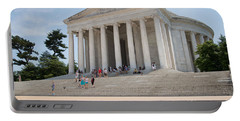 Thomas Jefferson Memorial Portable Battery Charger by Carol Ailles