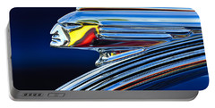 1939 Pontiac Silver Streak Chief Hood Ornament Portable Battery Charger by Jill Reger