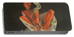 Portable Battery Charger featuring the painting 2 30 Am by Thu Nguyen