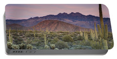 A Desert Sunset  Portable Battery Charger by Saija  Lehtonen