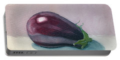 A Is For Aubergine Portable Battery Charger
