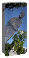 Portable Battery Charger featuring the photograph Minujin's A Man Of Mesh by Cora Wandel
