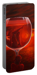 A Toast To Love And Wine Portable Battery Charger