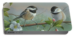 Portable Battery Charger featuring the painting A Wonderful Day by Mike Brown