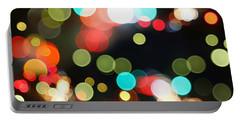 Abstract Colorful Round Bokeh Lights Portable Battery Charger