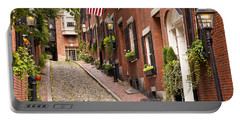 Acorn Street Boston Portable Battery Charger by Brian Jannsen