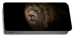 Portable Battery Charger featuring the photograph African Lion by Peter Lakomy