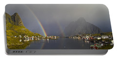 After The Rain In Reine Portable Battery Charger
