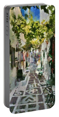 Alley In Ios Town Portable Battery Charger