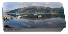 Portable Battery Charger featuring the photograph Along Loch Leven 3 by Wendy Wilton