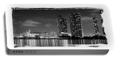 Portable Battery Charger featuring the photograph American Airlines Arena And Condominiums by Carsten Reisinger