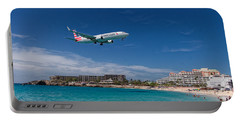 American Airlines At St Maarten Portable Battery Charger