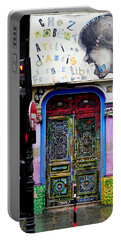 Artistic Door In Paris France Portable Battery Charger by Richard Rosenshein