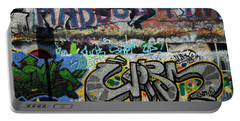 Artistic Graffiti On The U2 Wall Portable Battery Charger