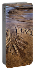 Portable Battery Charger featuring the photograph Artwork Of The Tides by Gary Slawsky