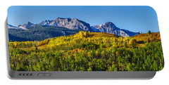 Aspen Trees With Mountains Portable Battery Charger