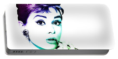 Audrey Hepburn Portable Battery Charger by Marianna Mills