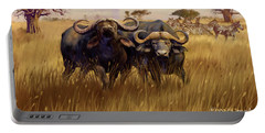 Portable Battery Charger featuring the digital art 2 Bad Duga Boys  by Rob Corsetti