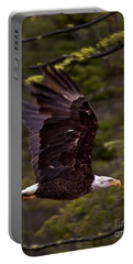 Portable Battery Charger featuring the photograph Bald Eagle In Flight by J L Woody Wooden