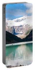 Portable Battery Charger featuring the photograph Beautiful Lake Louise by Cheryl Baxter