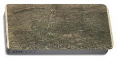 Birdseye Map Of Denver Colorado - 1887 Portable Battery Charger by Eric Glaser