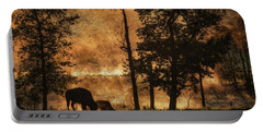 Bison  Bison Bison Athabascae  Grazing Portable Battery Charger