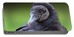 Black Vulture Portrait Portable Battery Charger by Bruce J Robinson