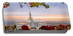 Bountiful Temple Leaves Portable Battery Charger