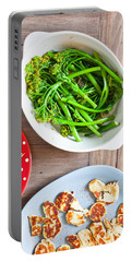Broccoli Stems Portable Battery Charger by Tom Gowanlock