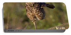 Burrowing Owl Photograph Portable Battery Charger by Meg Rousher