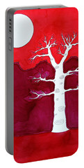 Canyon Tree Original Painting Portable Battery Charger by Sol Luckman