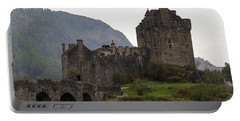 Cartoon - Structure Of The Eilean Donan Castle With A Stone Bridge Portable Battery Charger