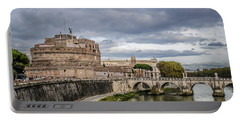 Castle St Angelo In Rome Italy Portable Battery Charger