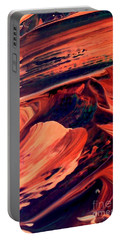 Portable Battery Charger featuring the painting Catalyst by Jacqueline McReynolds