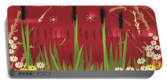 Cattails Portable Battery Charger by Kim Prowse