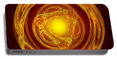 Celtic Abstract On Red Portable Battery Charger