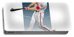 Chase Utley Portable Battery Charger by Scott Weigner