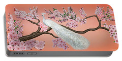 Cherry Blossom Peacock Portable Battery Charger