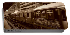 Portable Battery Charger featuring the photograph Chicago Cta by Miguel Winterpacht