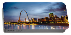 City Of St. Louis Skyline. Image Of St. Louis Downtown With Gate Portable Battery Charger