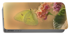 Clouded Sulphur Butterfly Portable Battery Charger by Betty LaRue